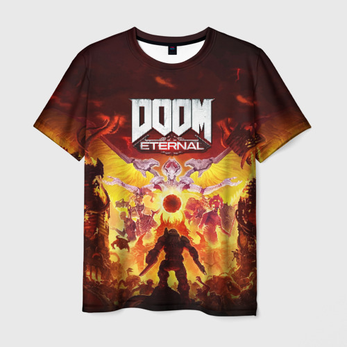 Мужская футболка 3D DOOM Eternal