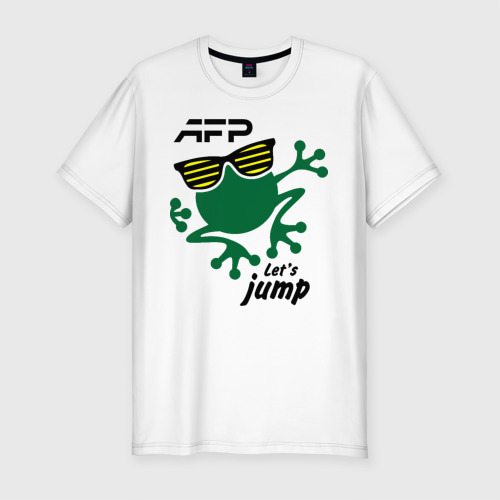 Мужская футболка хлопок Slim AFP - Let's jump