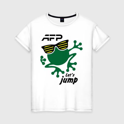 Женская футболка хлопок AFP - Let's jump