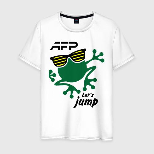 Мужская футболка хлопок AFP - Let's jump