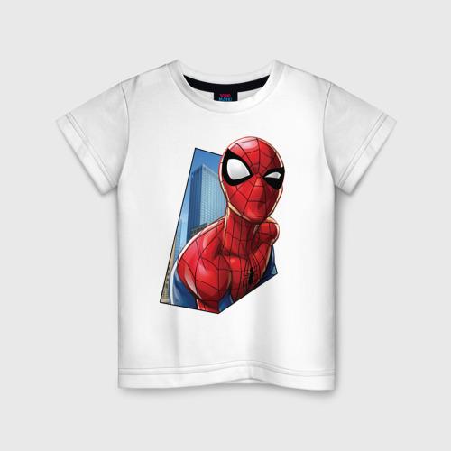 Детская футболка хлопок Человек-паук и город