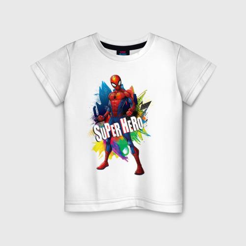 Детская футболка хлопок Spider-Man Super Hero