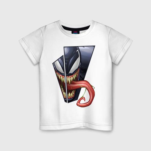 Детская футболка хлопок Venom with tongue sticking out