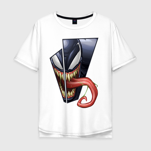 Мужская футболка хлопок Oversize Venom with tongue sticking out
