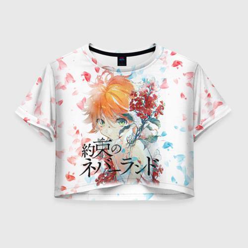 Женская футболка Crop-top 3D обещанный неверленд
