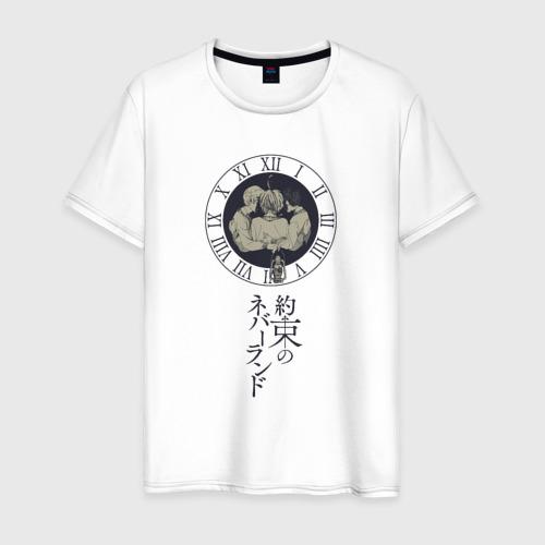 """Мужская футболка хлопок Манга \""""Обещанный Неверленд\"""""""