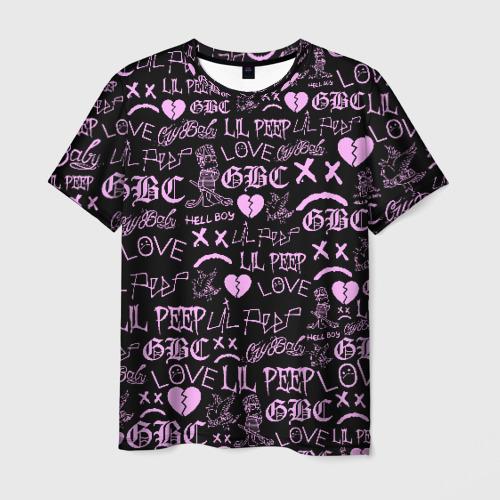 Мужская футболка 3D LIL PEEP LOGOBOMBING