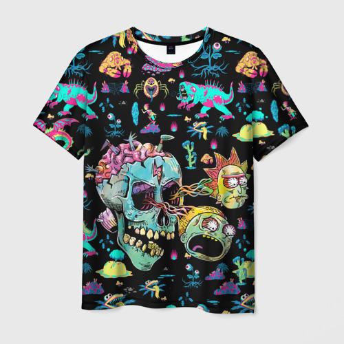 Мужская футболка 3D Monsters Rick and Morty