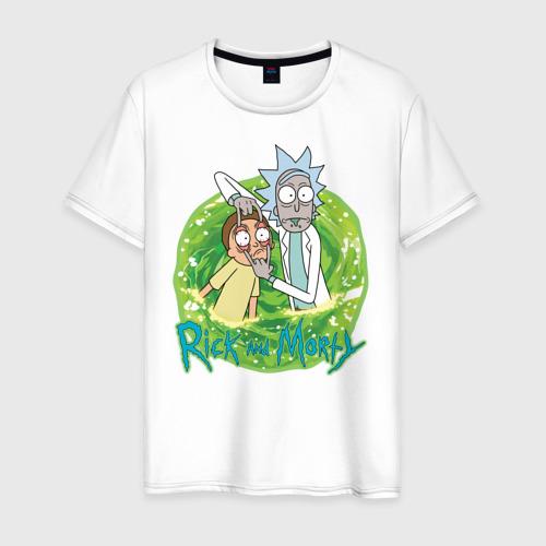 Мужская футболка хлопок Rick Sanchez and Morty Smith