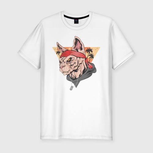 Мужская футболка хлопок Slim Злой котэ