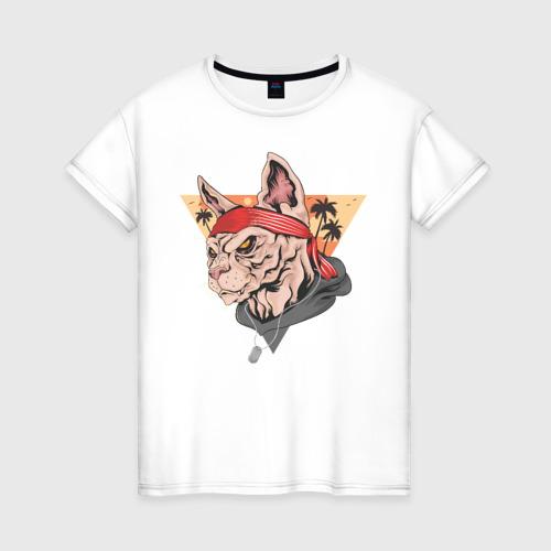Женская футболка хлопок Злой котэ
