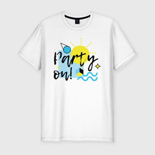Мужская футболка хлопок Slim Party on