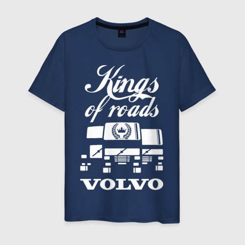 Мужская футболка хлопок VOLVO - короли дорог
