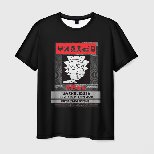 Мужская футболка 3D Rick