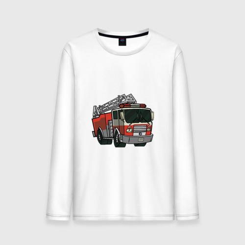 Мужской лонгслив хлопок Пожарная Машина