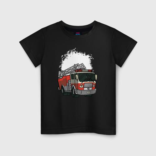Детская футболка хлопок Пожарная Машина