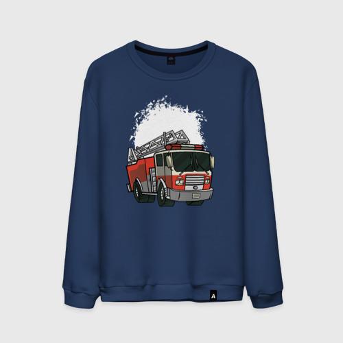 Мужской свитшот хлопок Пожарная Машина