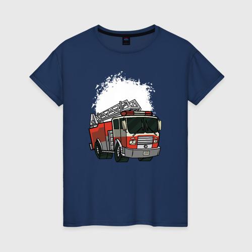 Женская футболка хлопок Пожарная Машина