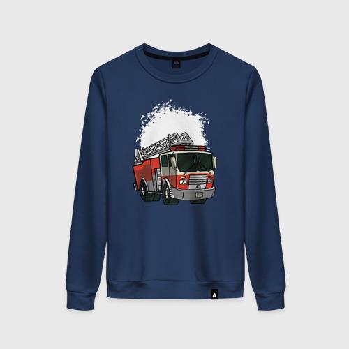 Женский свитшот хлопок Пожарная Машина