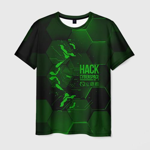 Мужская футболка 3D Hack Cyberspace