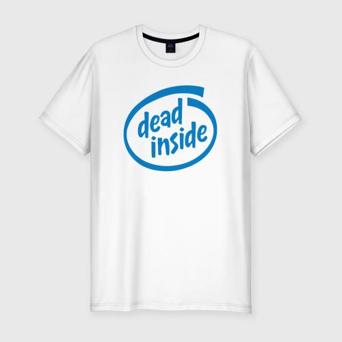 Мужская футболка хлопок Slim Dead inside