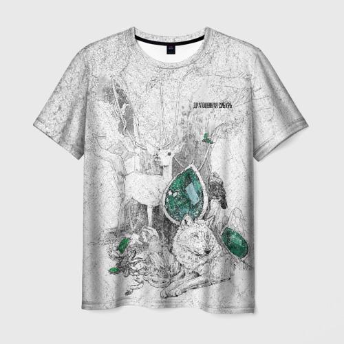 Мужская футболка 3D Драгоценная  Сибирь
