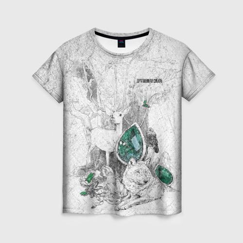 Женская футболка 3D Драгоценная  Сибирь