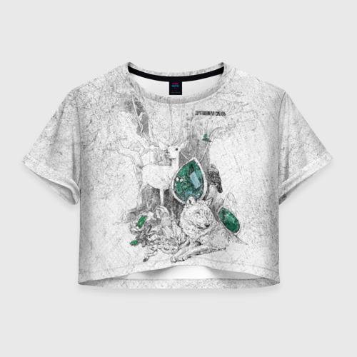 Женская футболка Crop-top 3D Драгоценная  Сибирь