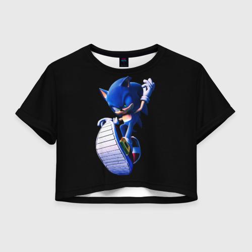 Женская футболка Crop-top 3D Sonic