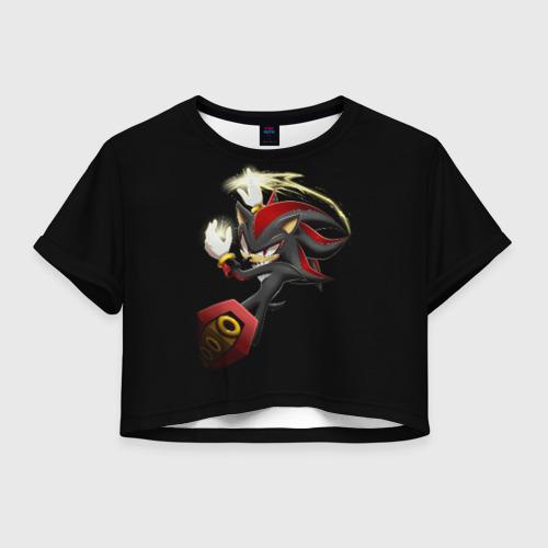 Женская футболка Crop-top 3D Shadow