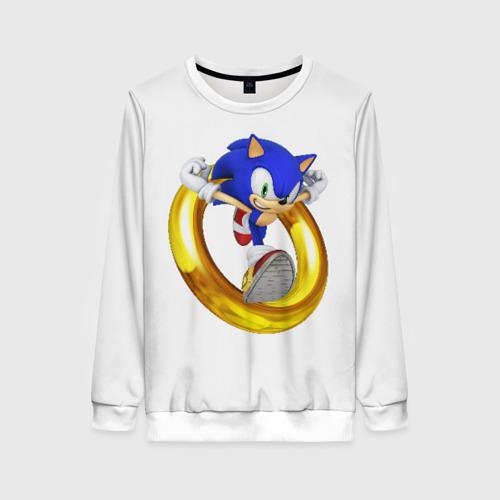 Женский свитшот 3D Sonic