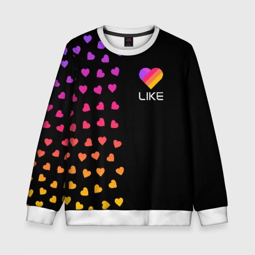 Детский свитшот 3D LIKE (Likee) - Сердечки