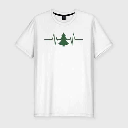 Мужская футболка хлопок Slim Жизнь дерева