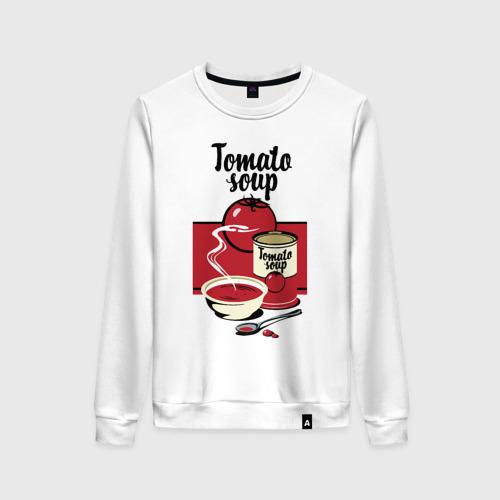 Женский свитшот хлопок Томатный суп