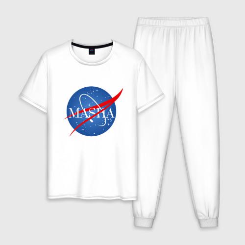 Мужская пижама хлопок Имя в стиле NASA