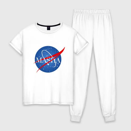 Женская пижама хлопок Имя в стиле NASA