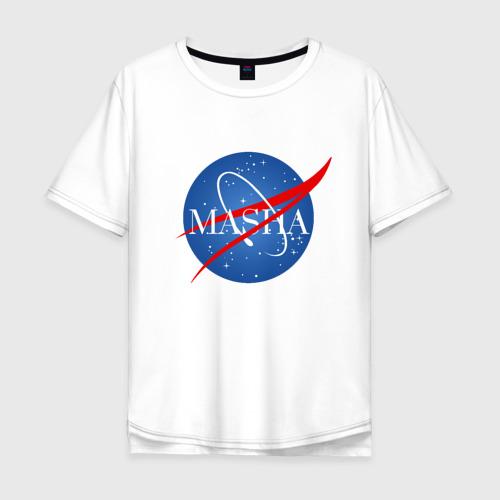 Мужская футболка хлопок Oversize Имя в стиле NASA