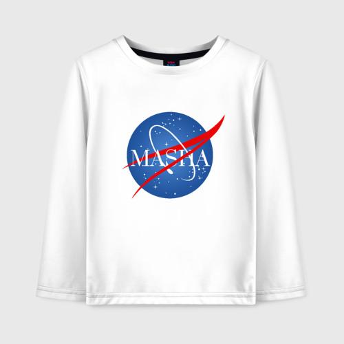 Детский лонгслив хлопок Имя в стиле NASA