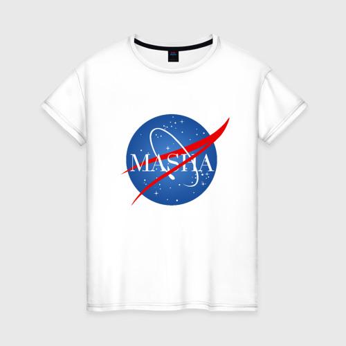Женская футболка хлопок Имя в стиле NASA