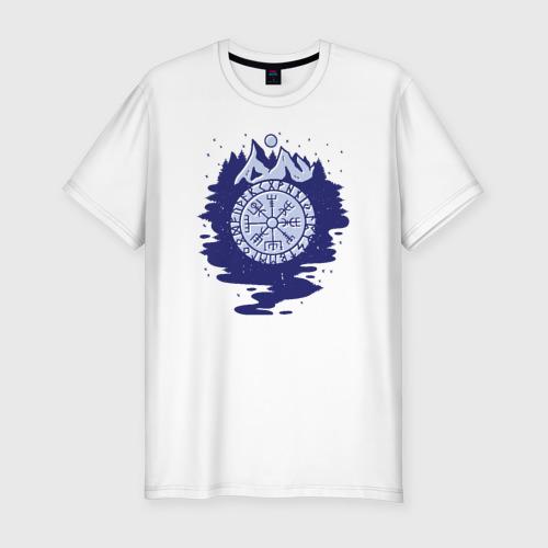 Мужская футболка хлопок Slim Викинги Символика