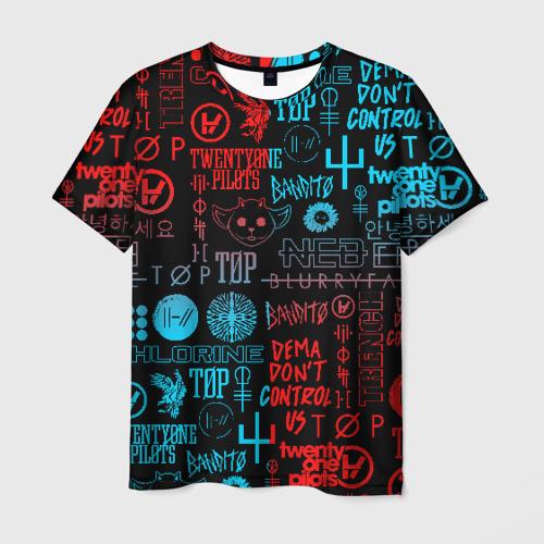 Мужская футболка 3D TWENTY ONE PILOTS