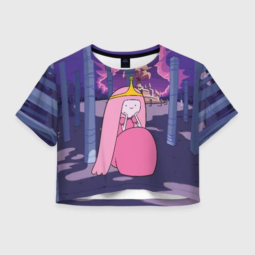 Женская футболка Crop-top 3D Принцесса Жвачка