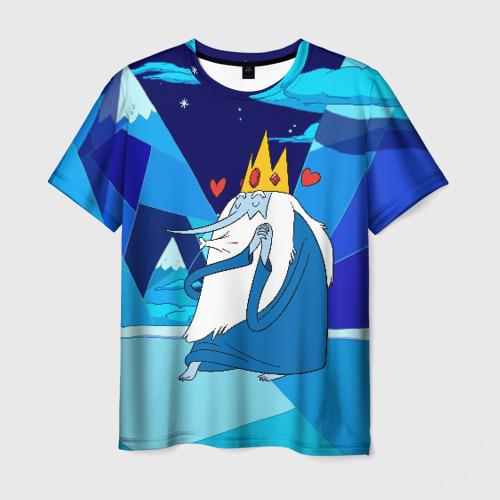 Мужская футболка 3D Ледяной король