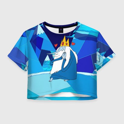 Женская футболка Crop-top 3D Ледяной король