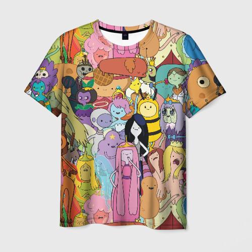Мужская футболка 3D Adventure time
