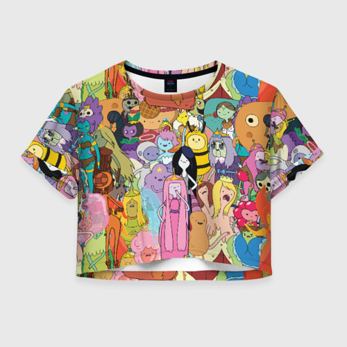 Женская футболка Crop-top 3D Adventure time