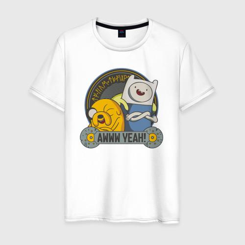 Мужская футболка хлопок Awww yeah!
