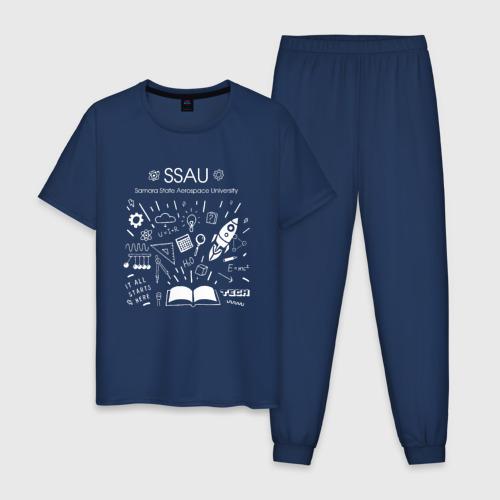 Мужская пижама хлопок SSAU (СГАУ им. Королёва)