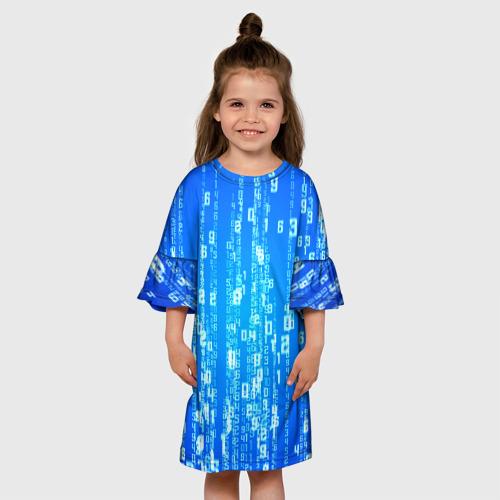Детское платье 3D ДВОИЧНАЯ СИСТЕМА