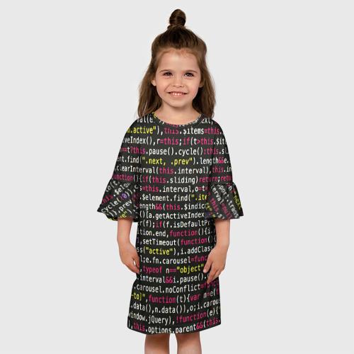 Детское платье 3D ЦИФРЫ КОДА